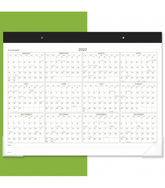 AT-A-GLANCE® 2021 TWO-COLOR MONTHLY DESK PAD WALL CALENDAR, 1 EACH