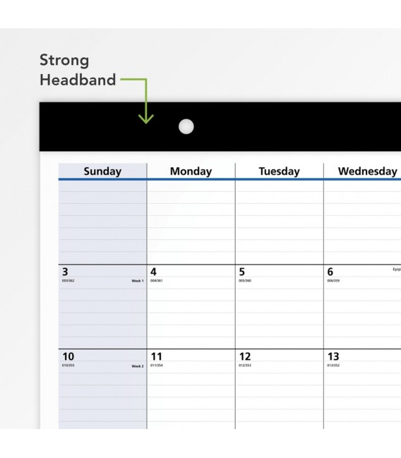 AT-A-GLANCE® 2021 COMPACT QUICKNOTES MONTHLY DESK PAD WALL CALENDAR, 1 EACH