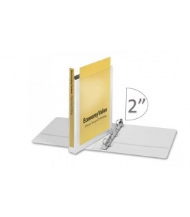 "CARDINAL® ECONOMYVALUE™ CLEARVUE™ BINDER, 2"" WHITE"