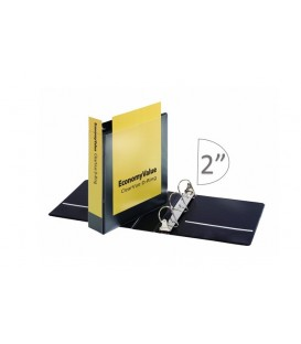 "CARDINAL® ECONOMYVALUE™ CLEARVUE™ BINDER, 2"" BLACK"