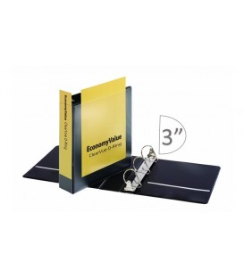 "CARDINAL® ECONOMYVALUE™ CLEARVUE™ BINDER, 3"" BLACK"