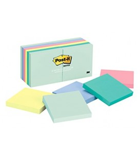 "POST-IT® NOTES, 3"" X 3"", MARSEILLE COLLECTION, 12 PADS/PACK"