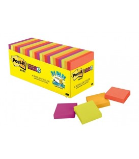 "POST-IT® SUPER STICKY NOTES, 3"" X 3"", MARRAKESH COLLECTION, 24 PADS/CABINET PACK"