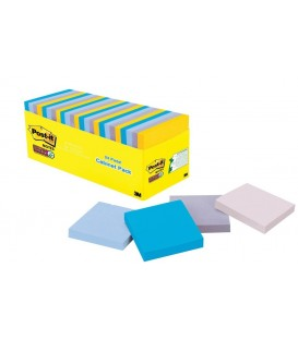 "POST-IT® SUPER STICKY NOTES, 3"" X 3"", NEW YORK COLLECTION, 24 PADS/CABINET PACK"