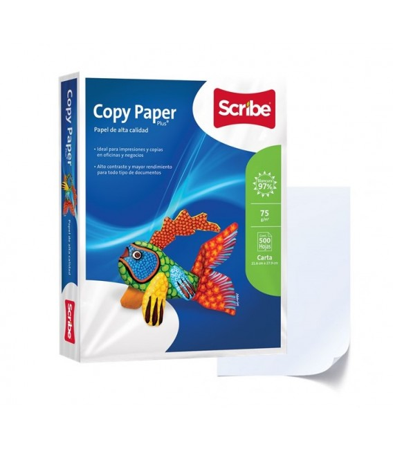 "SCRIBE™ COPY PAPER PLUS® WHITE PAPEL, 8,5"" X 11"", PROFESSIONAL 97% BRIGHTNESS"