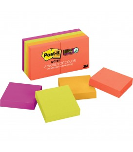 "POST-IT® SUPER STICKY NOTES, 2"" X 2"", MARRAKESH COLLECTION, 8 PADS/PACK"