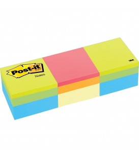 "POST-IT® NOTES CUBE, 2"" x 2"", GREEN WAVE, CANARY YELLOW WAVE, 3 CUBES/PACK"
