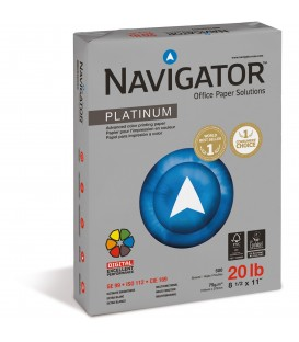 "NAVIGATOR® PLATINUM OFFICE MULTIPURPOSE, 8 1/2"" X 11"", 99% BRIGHT REAM"
