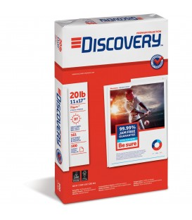 "DISCOVERY® PREMIUM SELECTION MULTIPURPOSE PAPER, 11"" X 17"", 97 BRIGHT, REAM"