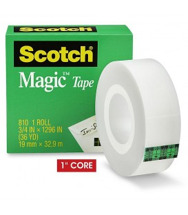"SCOTCH® MAGIC™ TAPE, 3/4"" X 1,296"", 6 BOX/PACK"
