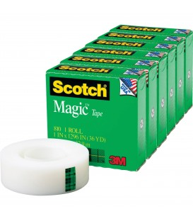 "SCOTCH® MAGIC™ TAPE, 1"" X 1,296"", 6 BOX/PACK"