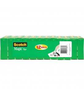 "SCOTCH® MAGIC™ TAPE, 3/4"" X 1,296"", 12 BOX/PACK"