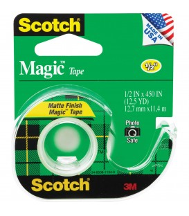 "SCOTCH® MAGIC™ TAPE, 1/2"" x 450"", 1 DISPENSER/PACK"
