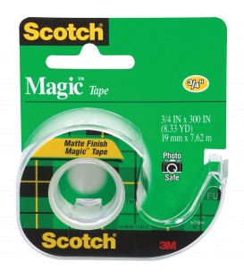 "SCOTCH® MAGIC™ TAPE, 3/4"" x 300"", 1 DISPENSER/PACK"