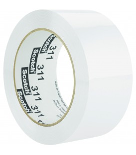 "SCOTCH® COLOR BOX SEALING TAPE, 2"" X 110 YD, WHITE"