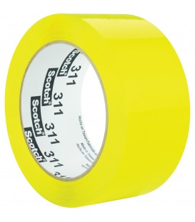"SCOTCH® COLOR BOX SEALING TAPE, 2"" X 110 YD, YELLOW"