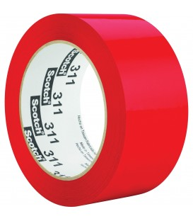 "SCOTCH® COLOR BOX SEALING TAPE, 2"" X 110 YD, RED"