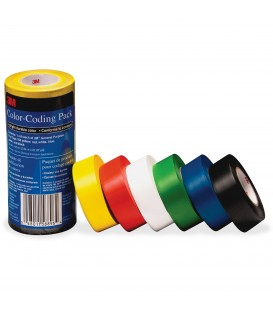 SCOTCH®  3M VINYL TAPE 764 COLOR, 094 W X 65.61 FT, 6/PACK ASSORED