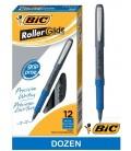 BIC® GRIP ROLLER-GLIDE™, ROLLER MICRO PEN, BLUE DOZEN