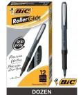 BIC® GRIP ROLLER-GLIDE™, ROLLER MICRO PEN, BLACK DOZEN