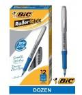 BIC® GRIP ROLLER-GLIDE™, ROLLER PEN, BLUE DOZEN