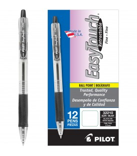 PILOT EASYTOUCH RETRACTABLE BALL POINT BLACK